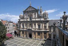 RUBENS - ST CAROLUS BORROMEUS CHURCH - Jesuït church in Antwerp / design and interior decoration by Rubens / Antwerp square H. Conscience