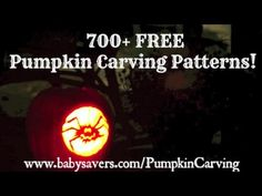 Free Pumpkin Carving Patterns: 700 Pumpkin Templates!