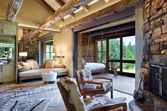 A Ranch in the Montana Wilderness This home dons no art on its walls; the history & natural elements are treated as art