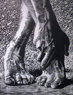 Dancers feet by Steven Burke lino project with emphasis on cross contour and contrasting textures image: lino Steven Burke, Linocut Prints, Art Prints, Block Prints, Photographie Portrait Inspiration, Texture Images, Arte Sketchbook, Scratchboard, Ap Art
