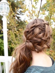 Braided side ponytail....love this! but with more structure to ponytail