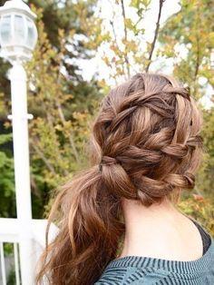 Braided side ponytail #hairstyles #hairstyle #hair #long #short #medium #buns #bun #updo #braids #bang #greek #braided #blond #asian #wedding #style #modern #haircut #bridal #mullet #funky #curly #formal #sedu #bride #beach #celebrity  #simple #black #trend #bob