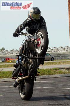Bill Miller on a black 2006 Honda CBR 600.