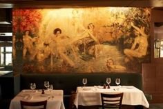 Cafe Des Artistes- The Fountain of Youth,  painted by Howard Chandler Christy a tenant of the hotel for the cafe.
