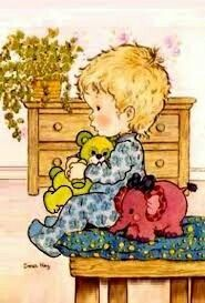 Sarah Kay by Images Vintage, Vintage Cards, Cute Images, Cute Pictures, Sara Kay, Heart Illustration, Sweet Pic, Vintage Drawing, Holly Hobbie