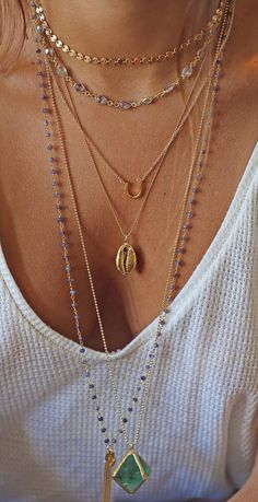 perfectly layered necklaces