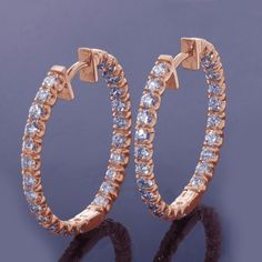 Now you can get our bestselling diamond hoop earrings in rose gold!  #ThursdayMotivation #diva #glam #fashionista #earrings #fashionjewelry #fashionearrings #stylish #eyecandy #instanew #art #earring #wannahaves #girls #ThursdayThoughts #happy #luxuryshopper #luxurylady #newlook #richlife #bestseller #happynewyears #newyear #HappyNewYear2019  #newarrivals #jewelryoftheday #postoftheday #shopsmall  #newarrival #new Fashion Earrings, Fashion Jewelry, Gold Diamond Earrings, Happy New Year 2019, Rich Life, Eye Candy, Diva, Rose Gold, Luxury