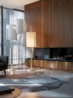 ARBORESCENCE floor lamp    HERVÉ LANGLAIS    for cvl luminaires contract    france    tubular brass light
