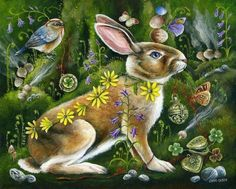 Résultat d'images pour janie olsen rabbit art Rabbit Art, Bunny Art, Painting Gallery, Pet Costumes, Woodland Creatures, Chalk Art, Wildlife Art, Whimsical Art, Christmas Art