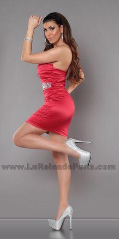 Vestido rojo de cóctel Aisha  [2]