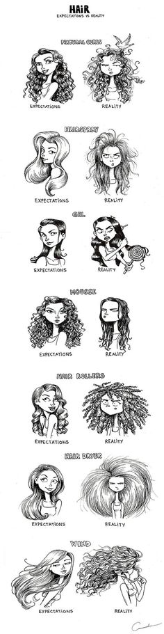 This is so true with naturally curly hair
