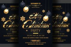 Classy Christmas Flyer Template by Hotpin on @creativemarket