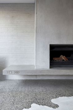 Homely, contemporary, nil maintenance: The Modern Family Dream home Concrete fireplace