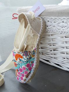 Lace-up flat espadrilles for girl LIBERTY OF LONDON by mumishoes
