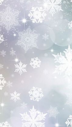 light blue and purple snowflakes Christmas background