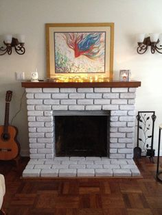 How to Clean White Stone Fireplace | Fireplace | Pinterest | White ...