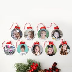 Make Keepsake Photo Ornaments This Christmas Easy Picture Ornament Tutorial Happy New Year Picture Christmas Ornaments, Diy Photo Ornaments, Christmas Picture Frames, Christmas Ornaments To Make, Handmade Christmas, Christmas Crafts, Christmas Pictures, Vinyl Ornaments, Picture Frame Ornaments