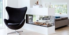 Plantegninger Celiba huse - se starten for dit nye unikke hus Modern House Plans, Modern House Design, Interior Architecture, Interior Design, Egg Chair, Houzz, Future House, Tiny House, Villa