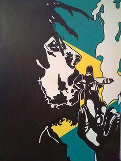 BOB MARLEY :) smoking the gunja reveals yourself to u Bob Marley Painting, Bob Marley Art, Reggae Bob Marley, Bob Marley Smoking, Reggae Art, Reggae Music, Arte Do Hip Hop, Rasta Art, Bob Marley Pictures