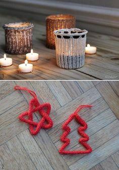 Etoile & sapin au tricotin