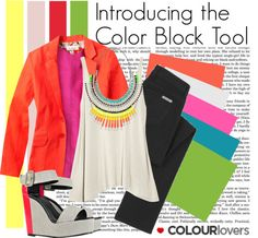 """""""Introducing the Color Block Tool"""" by polyvore ❤ liked on Polyvore"""