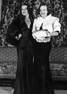Norma Shearer and Joan Crawford