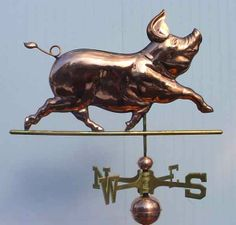Custom Copper Weathervanes | weathervanes, weathervanes and cupolas, custom weathervanes, copper ...