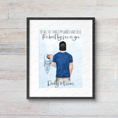 Custom Digital Father Son Daughter Infant Newborn Baby | Fathers Day | Dad and Children Gift | Daddy Papa | Print at Home | Printable PDF Textured Canvas Art, Daddy Gifts, Home Printers, Father And Son, Artwork Prints, High Quality Images, Fathers, Gifts For Kids, Online Printing