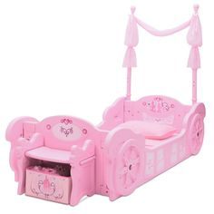 From pretty princesses to royal castles, the Delta Children Disney Princess Carriage Toddler-to-Twin Bed evokes the characters and stories girls love to dream about. Ready to transform any room into Disney Princess Carriage, Disney Cinderella Castle, Princess Disney, Princess Castle Bed, Princess Beds, Princess Style, Convertible Toddler Bed, Disney Bedding, Low Loft Beds