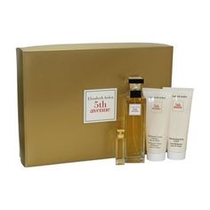 5TH AVENUE4 PC. GIFT SET ( EAU DE PARFUM SPRAY 2.5 oz + PARFUM 3.7 ml + MOISTURIZING BODY LOTION 3.3 oz HYDRATING CREAM CLEANSER FOR THE BODY 3.3 oz )