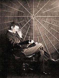 Nikola Tesla, scientist and cat lover.