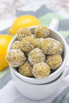 Lemon Turmeric Energy Balls full of beautiful citrus aroma enriched with healing spice - TURMERIC, and superfood - CHIA SEEDS. These immune boosting, refined sugar-free energy balls are rich in fibers and plant-based proteins. Perfect for everyday snacking. #vegan #glutenfree #healthy #turmeric #chia #lowcarb #nosugar #sugarfree #raw #nobake #balls   www.natalieshealth.com