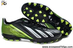 Wholesale Cheap Adidas F10 TRX AG Black White Green Soccer Shoes Store