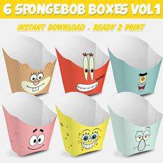 6 Popcorn Box Spongebob Vol 1   Caja Palomitas Bob por Migueluche
