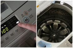 How To Clean Your Top-Loading Washing Machine · One Good Thing by Jillee Smelly Washing Machines, Clean Your Washing Machine, Clean Machine, Diy Cleaning Products, Cleaning Solutions, Cleaning Hacks, Daily Cleaning, Organizing Tips, Washer Machine