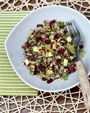 Barley & Lentil Pilaf with Pickled Beetroot, Weigh It Up