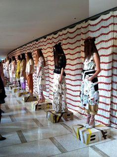 Chris Benz, Fashion Week 2012  Anthropologie Swing Stripes Curtains
