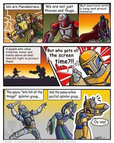 Sums up my feelings on popular portrayal of Mandalorians pretty well.