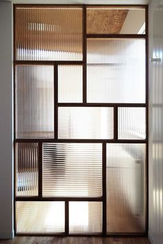 "Example of design glass ""mall glass"" used as a store partition (K company, Sapporo, Hokkaido) Garden; Living Room Partition Design, Room Partition Designs, Partition Ideas, Glass Partition Wall, Window Glass Design, Door Design, Home Interior Design, Interior Decorating, Glass Blocks Wall"