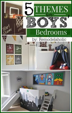 5 Classic Boys' Bedroom Themes -- how to have a kids' room that still has grown-up style ;) #spon