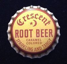 New Old Stock 6 vintage Mason/'s Root Beer Corked Lined soda bottle caps unused