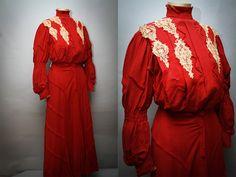 Antikes Edwardian Dress  1890er Jahre von LadyScarlettsVintage