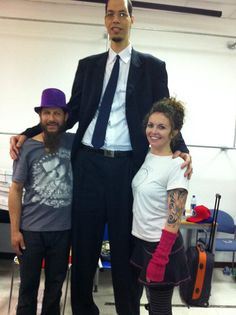 """Brahim Takioullah is the tallest man of Morocco standing 8' 1"""". He was born on  January 26th, 1982 in the southern town of Guelmim. Brahim grew normally until the age of 13, when his rapid growth started. He has the largest feet in the world according to the Guinness Book of World Records, measuring a staggering 15 inches!"""