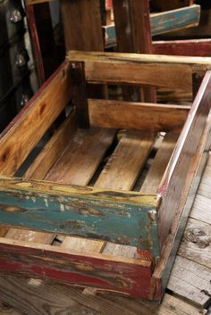 Colorful Wood Crates 14x22 Size $32