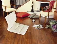 (4pcs/lot ) Zaisu chair White PU leather for Living Room Japanese Seating Furniture Beige Color Tatami Zaisu Legless Floor Chair