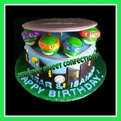 Teenage Mutant Ninja Turtles Theme Birthday Cake