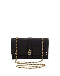 Aurore Padlock Wallet on a Chain, Black by Chloe at Bergdorf Goodman. $895