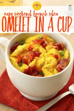 Here is a fun way to make an omelet. Perfect for a busy morning as you run out the door!
