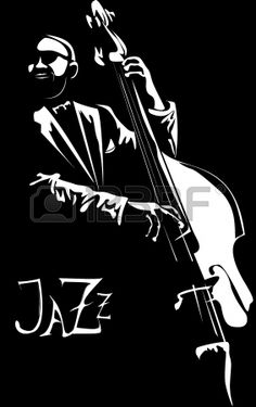 series - Old jazz men with the favourite contrabass