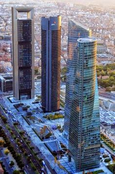 Four Towers in Madrid, Spain | Las Cuatro Torres de Madrid
